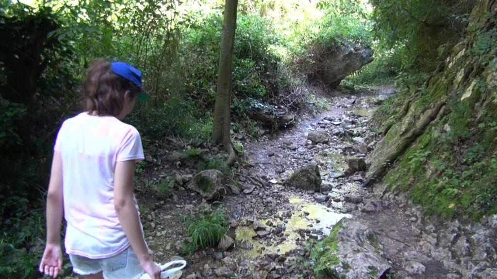 Tramo de la ruta de las pasarelas de Alquezar
