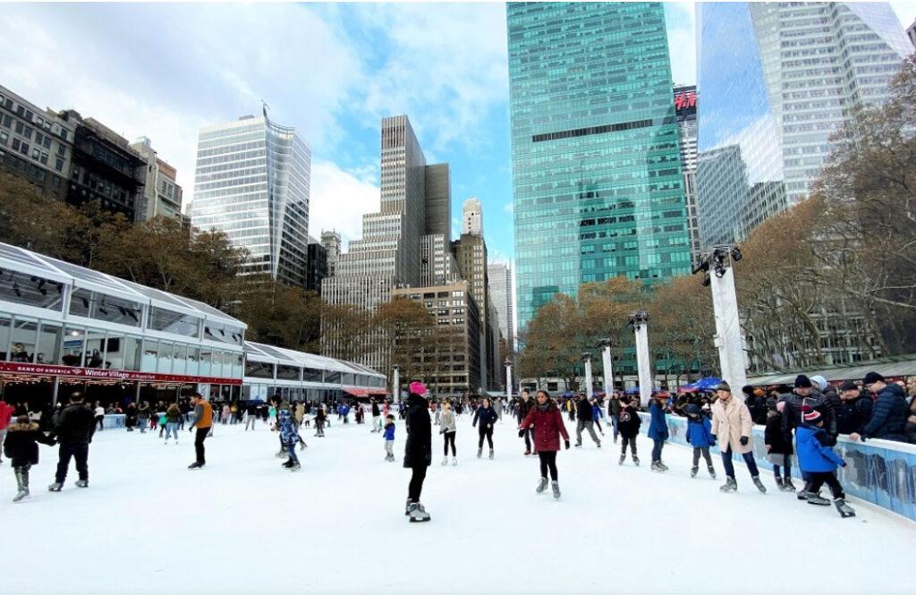 Pista de patinaje en Bryant Park